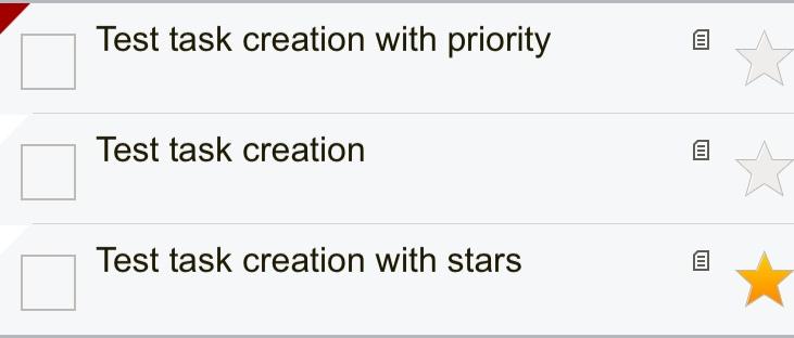List of created tasks in Toodledo iOS app